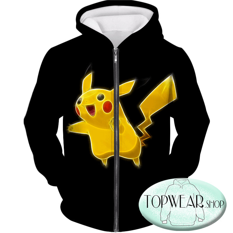 Pokemon Hoodies - Pokemon Pikachu Cool Black Hoodie