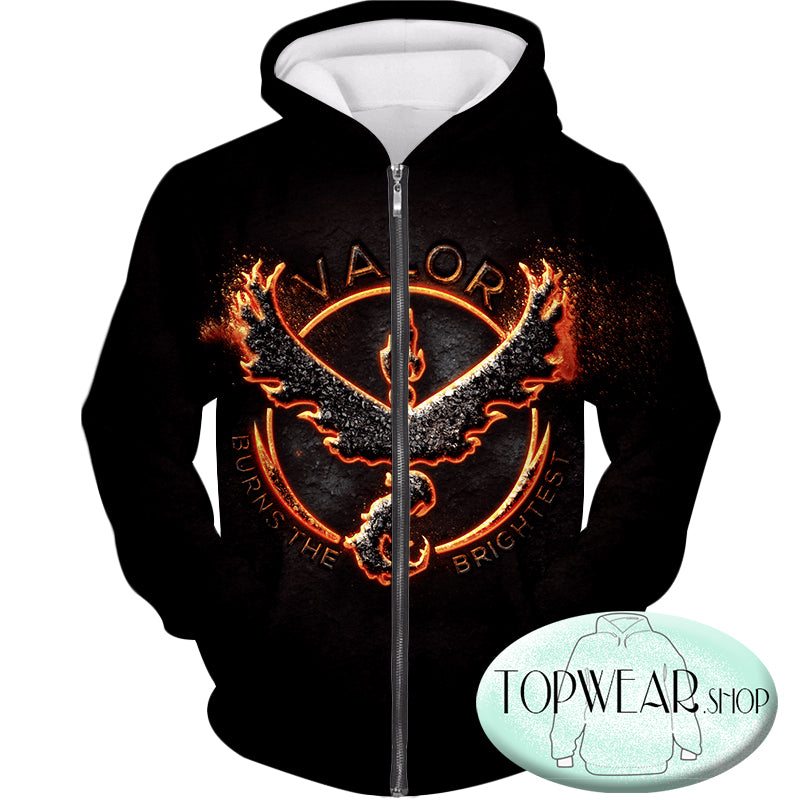 Pokemon Hoodies - Fire Pokemon Moltress Logo 3D Hoodie