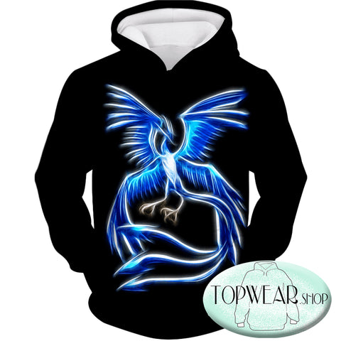Image of Pokemon Hoodies - Mysitic Pokemon Articuno Hoodie