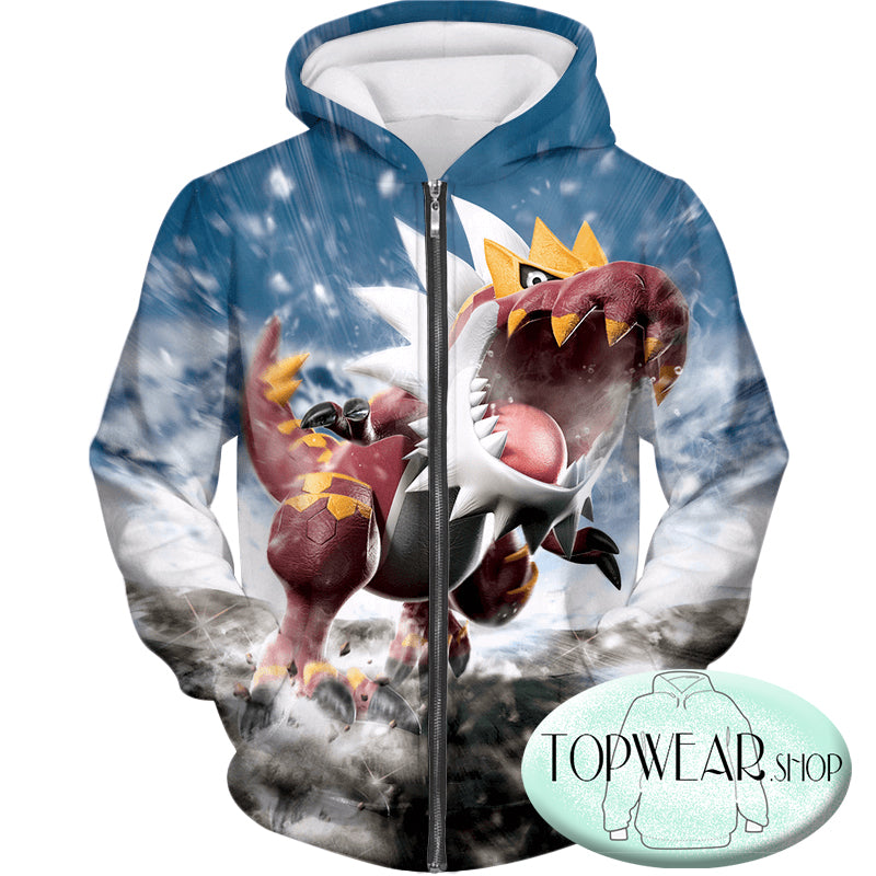 Pokemon Sweatshirts -  Dragon Fossil Pokemon Tyrantrum Sweatshirt