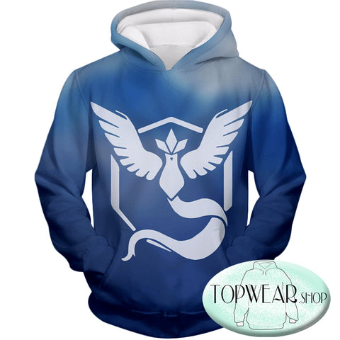 Image of Pokemon Sweatshirts - Pokemon Articuno Symbol 3D Sweatshirt
