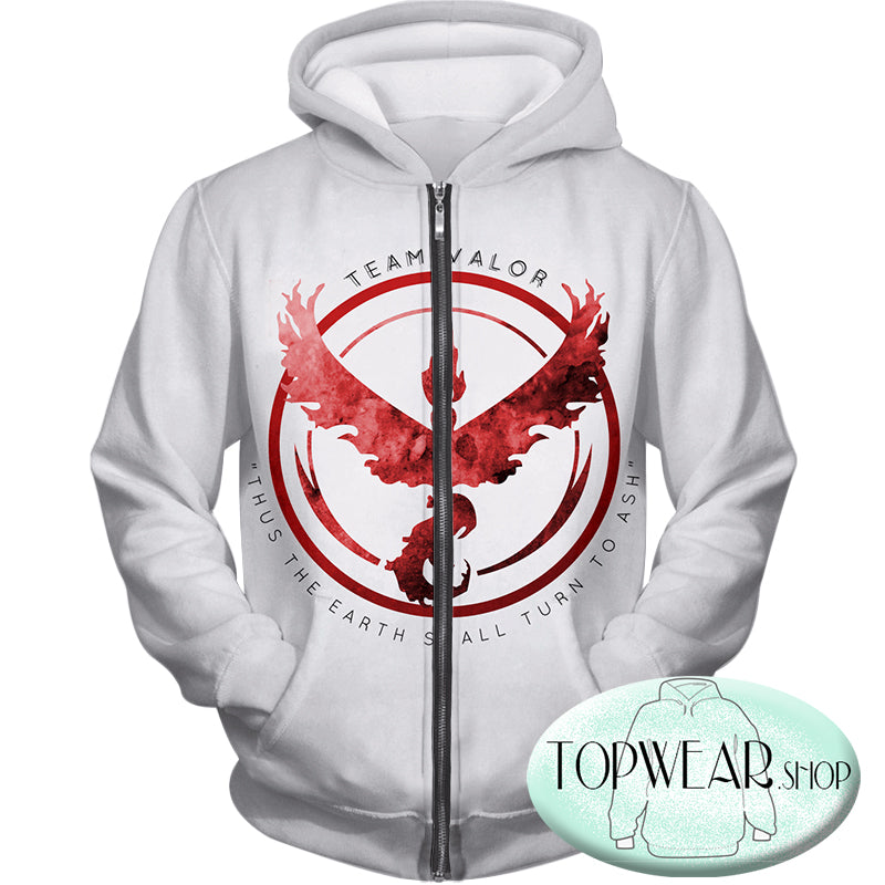 Pokemon Hoodies - Fire Pokemon Moltress Logo Zip Up Hoodie