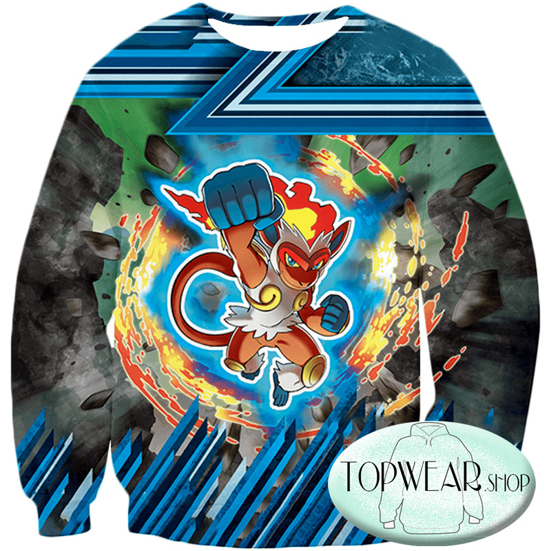 Pokemon Hoodies - Flame Pokemon Infernape Hoodie