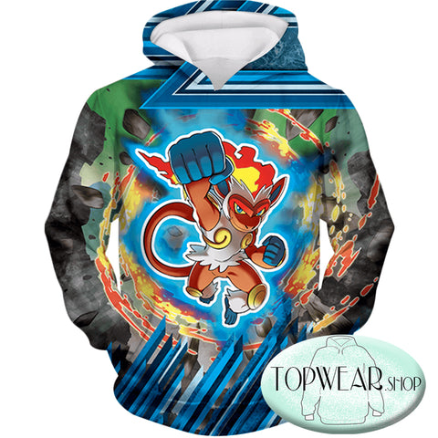 Image of Pokemon Hoodies - Flame Pokemon Infernape Hoodie