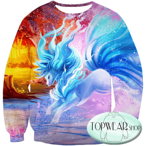 Image of Pokemon Hoodies - Pokemon Alolan Ninetails 3D Hoodie