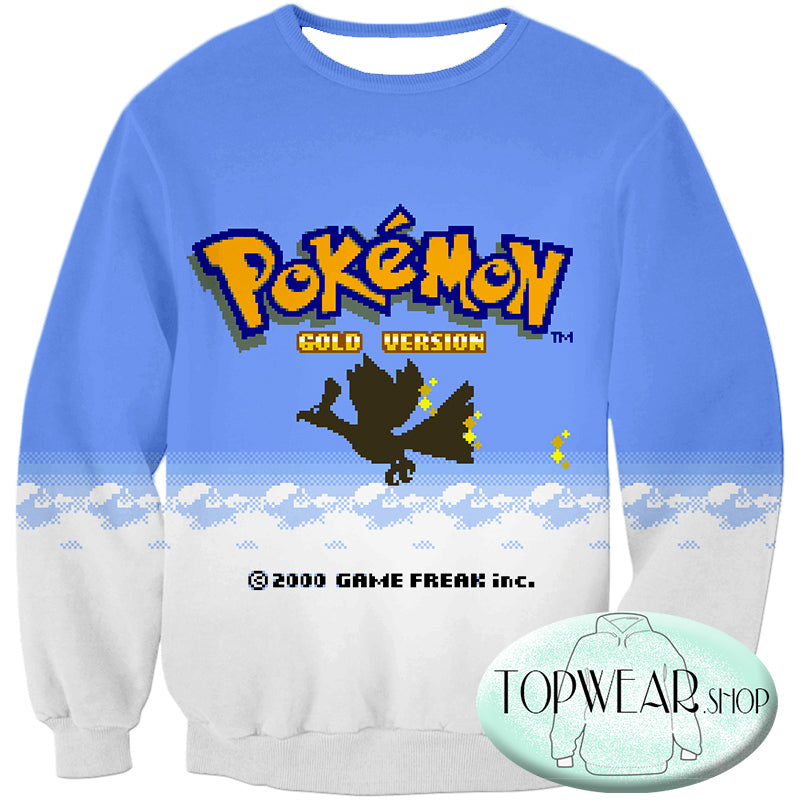 Pokemon Hoodies - Pokemon Gold Version Game Zip Up Hoodie
