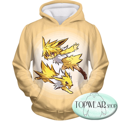 Image of Pokemon Hoodies - Pokemon Jolteon and Trainer Hoodie