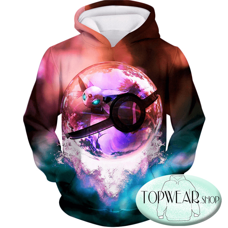 Pokemon Hoodies - Legendary Psychic Pokemon 3D Zip Up Hoodie