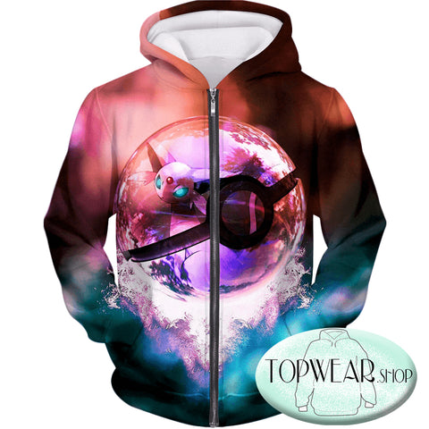 Image of Pokemon Hoodies - Legendary Psychic Pokemon 3D Zip Up Hoodie