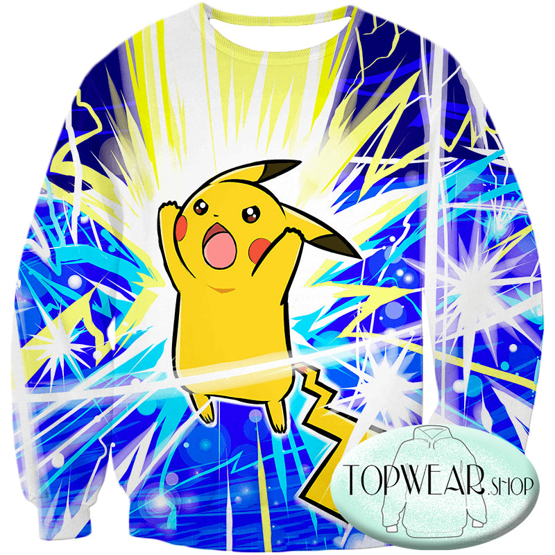 Pokemon Hoodies - Thunder Pokemon Pikachu Zip Up Hoodie