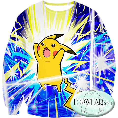 Image of Pokemon Hoodies - Thunder Pokemon Pikachu Zip Up Hoodie