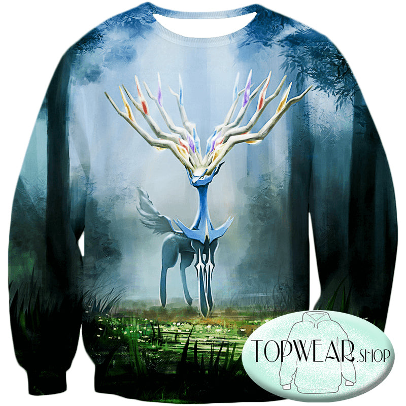 Pokemon Hoodies - Very Cool Pokemon Xerneas Zip Up Hoodie