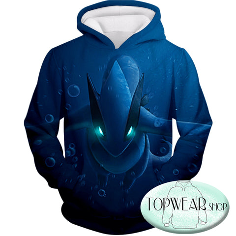Image of Pokemon Hoodies - Legendary Pokemon Lugia Zip Up Hoodie