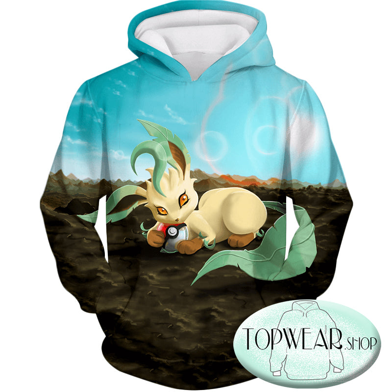 Pokemon Hoodies - Wolf Grass Type Pokemon Leafeon Hoodie