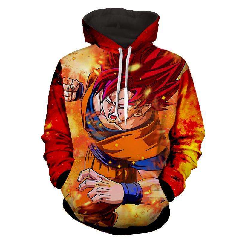 Dragon Ball Goku SSJ God 3D Hoodie