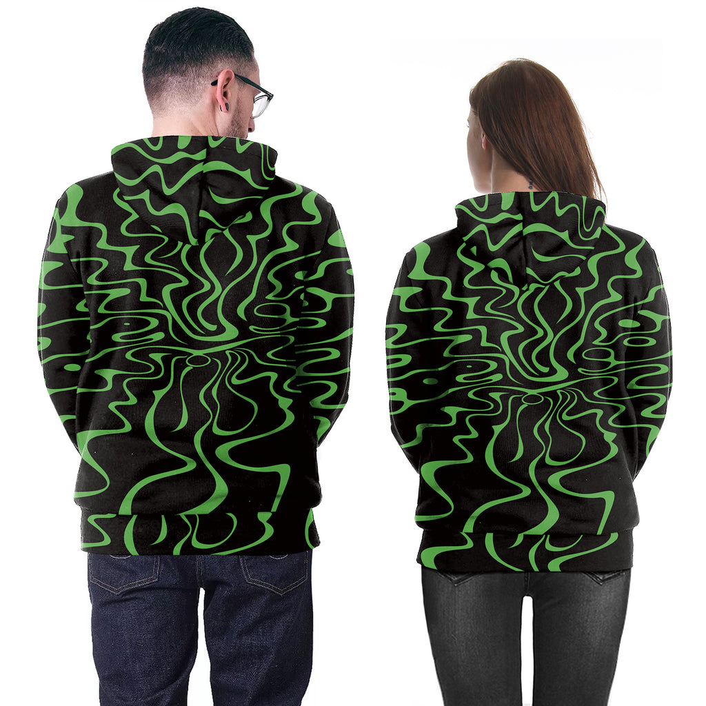 3D Print Anime Rick and Morty Green Hoodie
