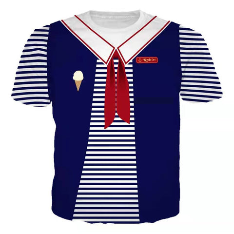 T-shirt Stranger Things Scoops Ahoy Robin Cosplay Costume Unisex