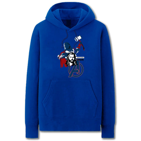 The Avengers Hoodies - Solid Color Thor Cartoon Style Fleece Hoodie