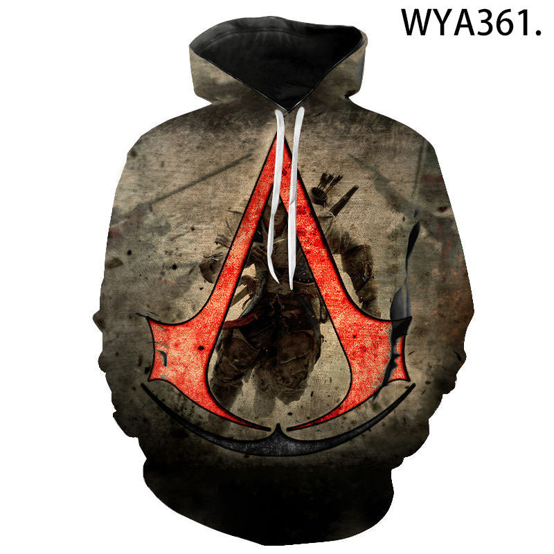 3D Digital Printing Game Assassin's Creed Long-Sleeved Hoodie