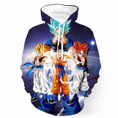 Image of Super Instinct Goku Dragon Ball Z 3D Printed Hoodie