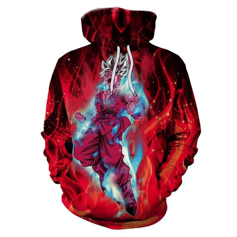 Image of Super Unique Dragon Ball Z Red 3D Printed Hoodie