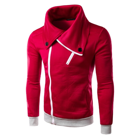 Image of Solid Color Hoodies - Pullover Fleece Purple Red Hoodie