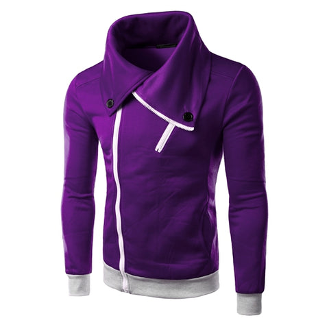 Solid Color Hoodies - Pullover Fleece Purple Red Hoodie