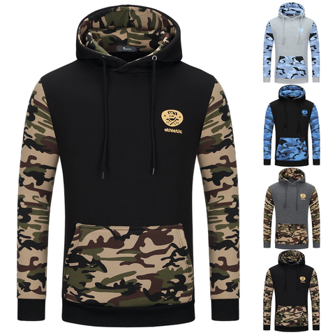 Image of Camouflage Hoodies - Pullover Fleece White Black Hoodie