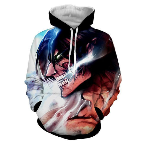 Image of Titan Eren- Attack On 3D Hoodie