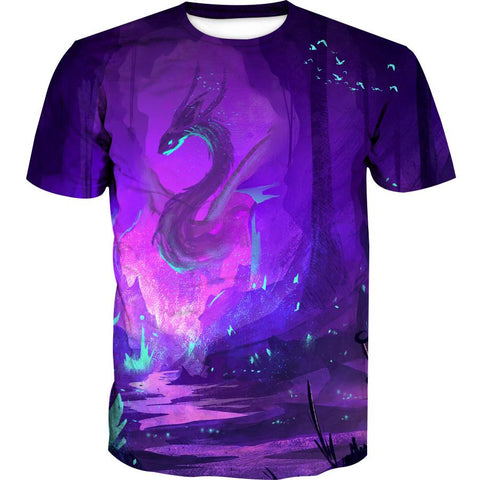 Fantasy Dragon Hoodies - Pullover Purple Dragon Hoodie