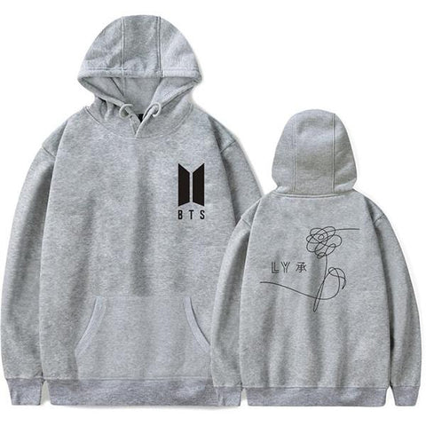 Image of BTS Hoodie - Super Cool Love Yourself Small Emblem Hoodie