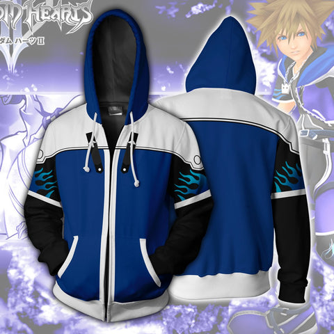 Kingdom Hearts Sora Hoodies - Zip Up Sora Wisdom Form Hoodie