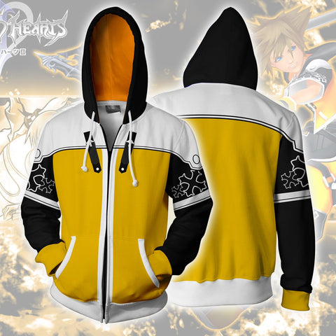 Kingdom Hearts Sora Hoodies - Zip Up Sora Master Form Hoodie