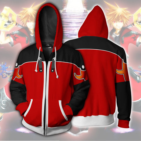 Kingdom Hearts Sora Hoodies - Zip Up Sora Valor Form Hoodie