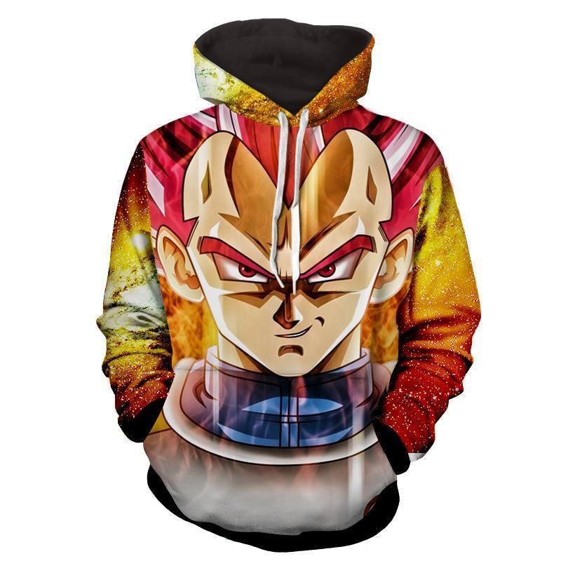 Vegeta SSJ Red Dragon Ball 3D Hoodie