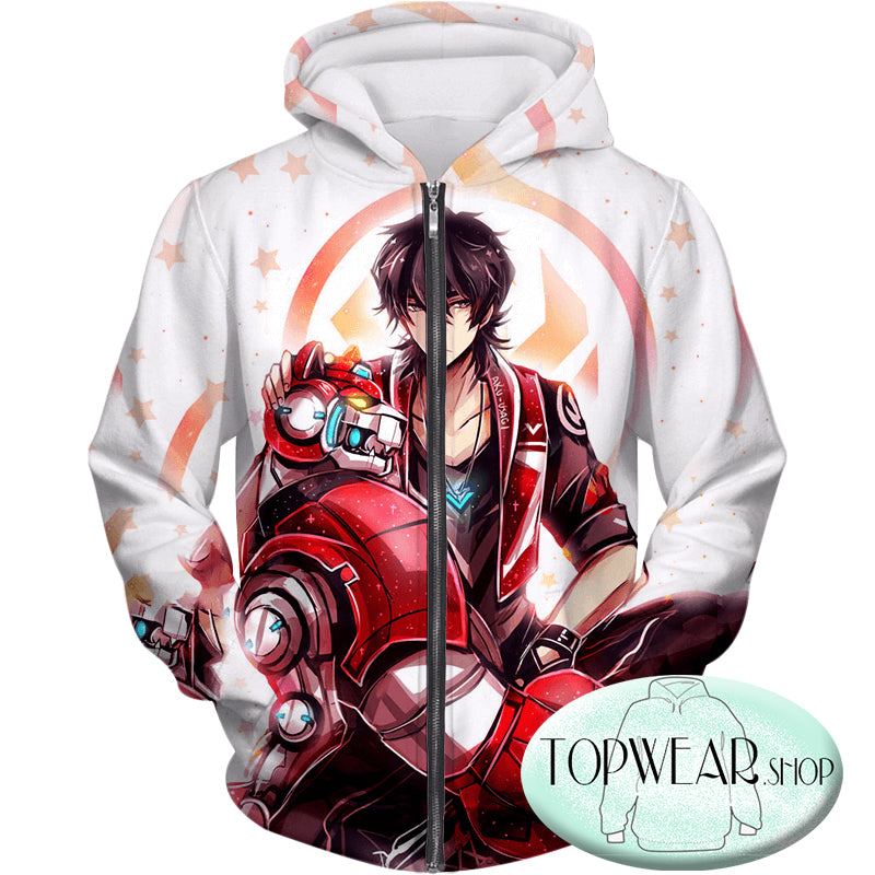 Voltron: Legendary Defender Hoodies -Lion Paladin Keith Cool Graphic Zip Up Hoodie