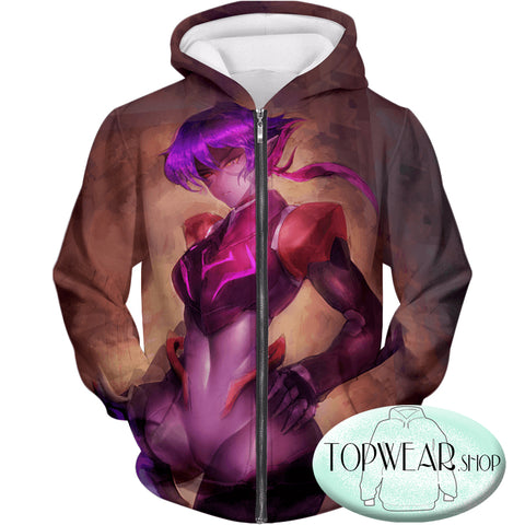 Image of Voltron: Legendary Defender Hoodies - Awesome Female Galrian Krolia Super Cool Zip Up Hoodie