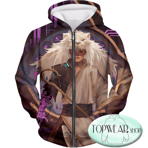 Image of Voltron: Legendary Defender Hoodies -  Lion Paladin Shiro Fan Graphic Zip Up Hoodie