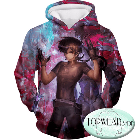 Image of Voltron: Legendary Defender Hoodies -  Half Galrian Keith  Made Art Zip Up Hoodie