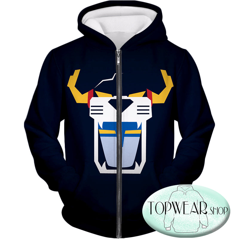 Voltron: Legendary Defender Hoodies - Voltron Force Front Face Mask Zip Up Hoodie