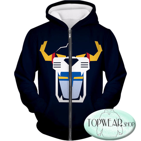 Image of Voltron: Legendary Defender Hoodies - Voltron Force Front Face Mask Zip Up Hoodie