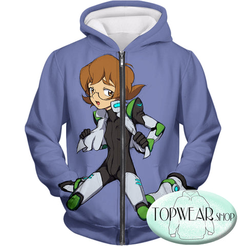 Image of Voltron: Legendary Defender Hoodies - Pidge Lion Paladin Super Cool Zip Up Hoodie