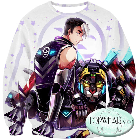 Image of Voltron: Legendary Defender Hoodies - Shiro Lion Paladin Awesome Cartoon Zip Up Hoodie