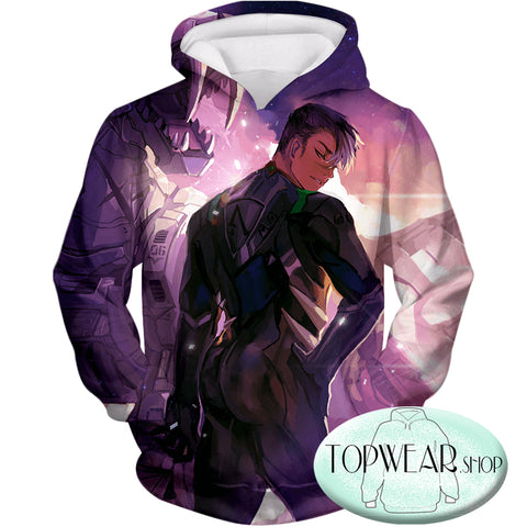 Image of Voltron: Legendary Defender Hoodies - Shiro the Ultimate Black Lion Paladin Zip Up Hoodie