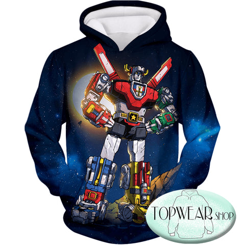 Image of Voltron: Legendary Defender Hoodies -The Ultimate Defender of the Universe Zip Up Hoodie