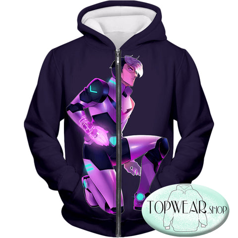 Image of Voltron: Legendary Defender Hoodies -Traditional Black Paladin Shiro Zip Up Hoodie