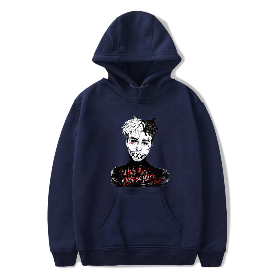 XXXTentacion Hoodies - Solid Color Popular Rapper XXXTentacion Icon Super Cool Hoodie