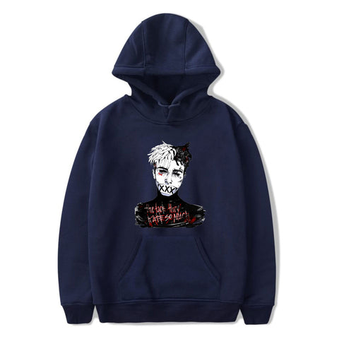 Image of XXXTentacion Hoodies - Solid Color Popular Rapper XXXTentacion Icon Super Cool Hoodie