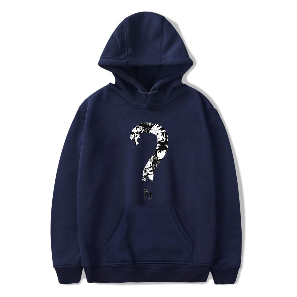 XXXTentacion Hoodies - Solid Color Popular Rapper XXXTentacion Question Mark Icon Hoodie