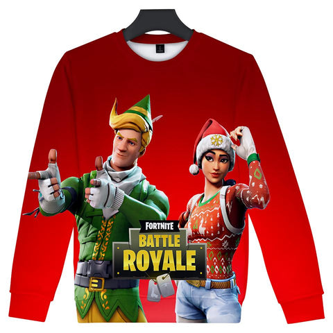 Fortnite Hoodies - Fortnite Game Christmas Series Christmas Dress Up 3D Hoodie